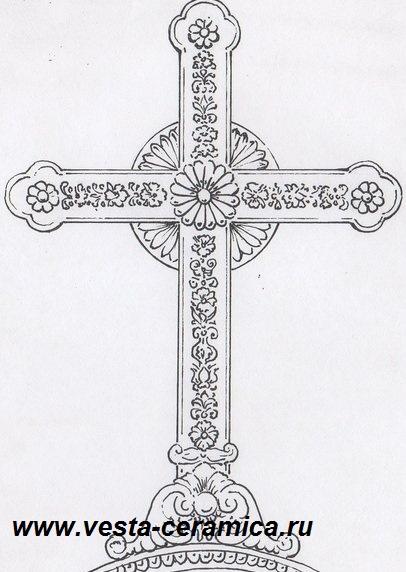Крест-эскиз