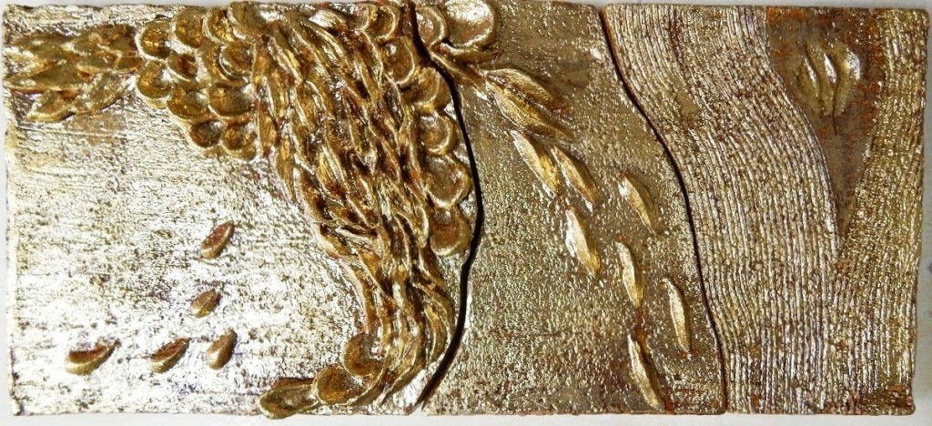 панно с золотом 250х560