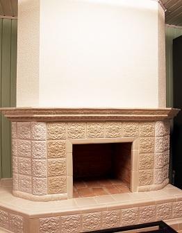 Изразцовый Кремовый камин