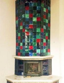Майоликовый камин