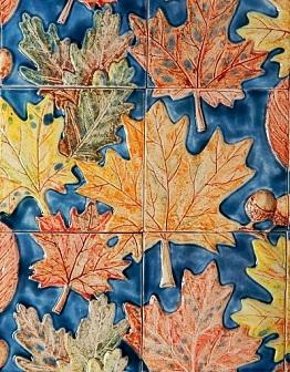 Керамическое панно Осеннее