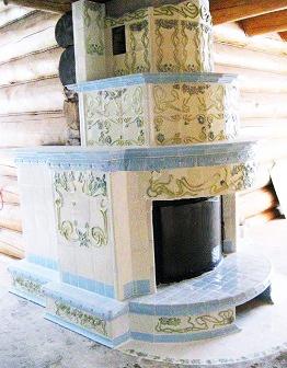 Изразцовый камин Арт-Нуво