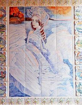 Панно Царевна-Лебедь вертикальное