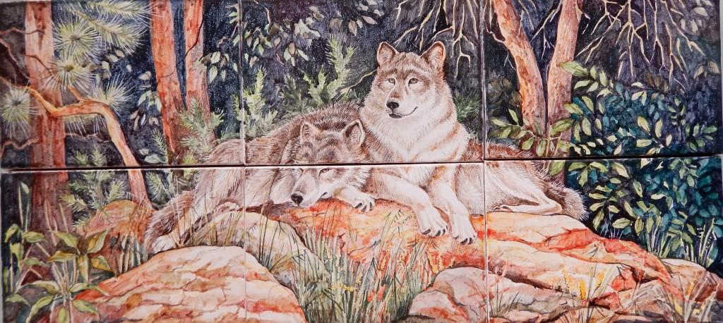 Волки панно