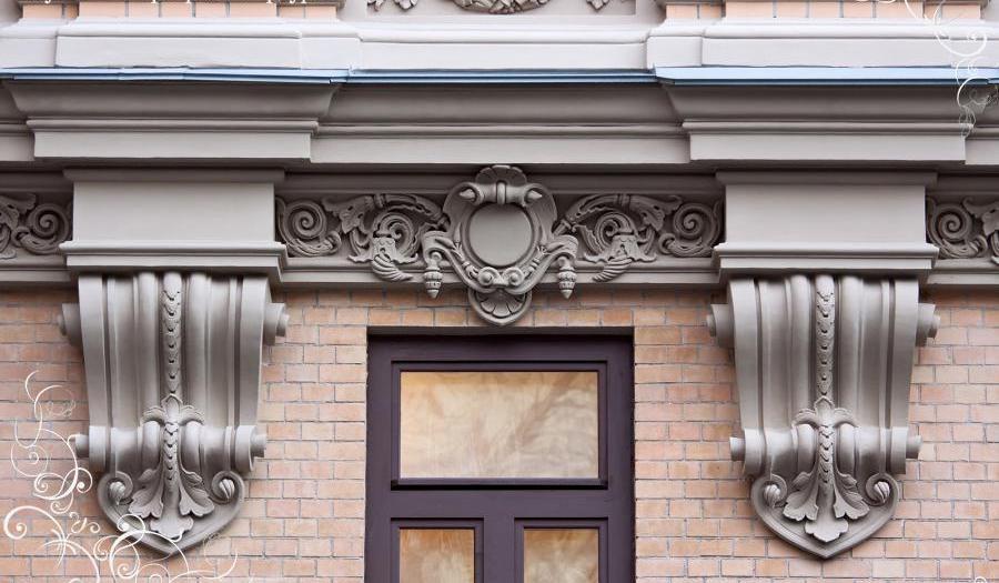 декоративные фасадные элементы из фибробетона