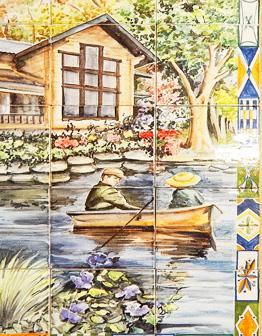 Панно Пара в лодке