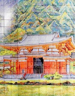 Керамическое панно Пагода