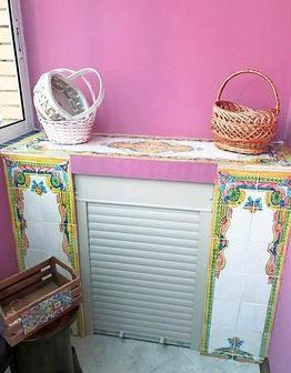 Викторианские панно в отделке балкона
