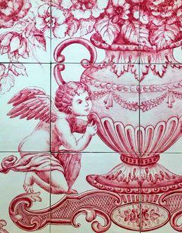 Керамическое панно Амуры