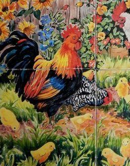 Керамическое панно Птичий двор