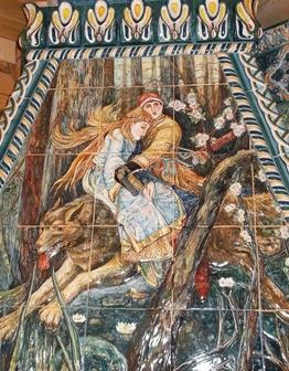Объемное панно Иван-царевич на Сером Волке