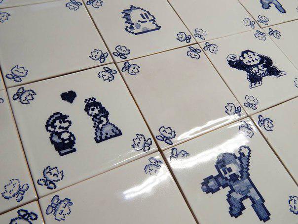 Piksel art v keramike