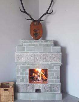 Изразцовый Скандинавский камин