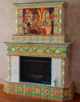 Камин Боярский пир