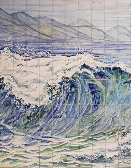 Керамическое панно Волна