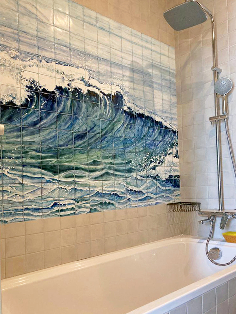 Панно в морском стиле для ванной