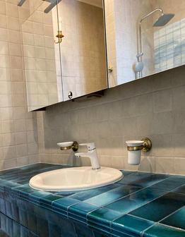 Панно и майолика для ванной в морском стиле