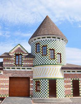 Керамический фасад Одуванчики