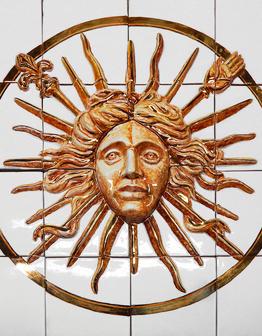 Керамическое панно Король-Солнце