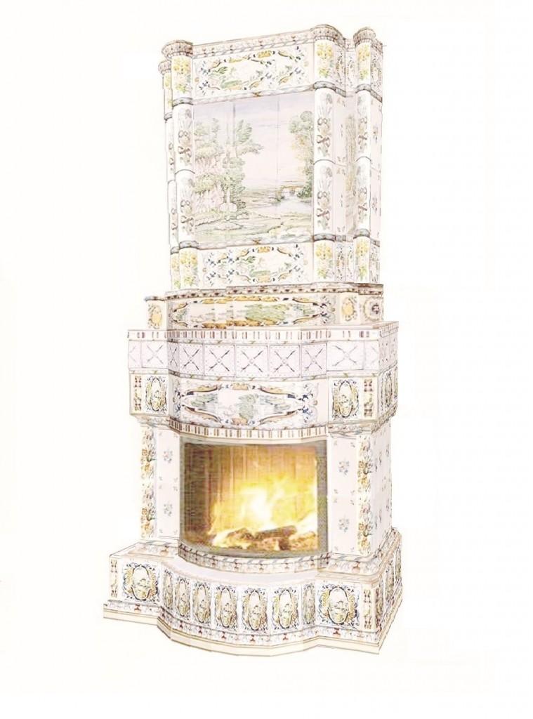 пристенный камин Бранденбургский