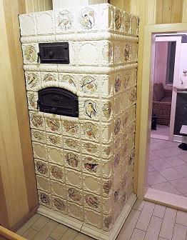 Изразцовая банная печь Рябинка