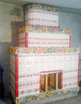 Керамический лепной камин Веночки