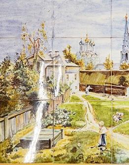 Панно Московский дворик