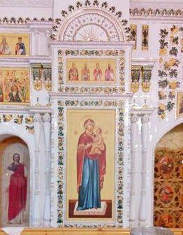 Изразцовый иконостас в храме Илии Пророка