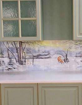 Кухонный фартук Первый снег