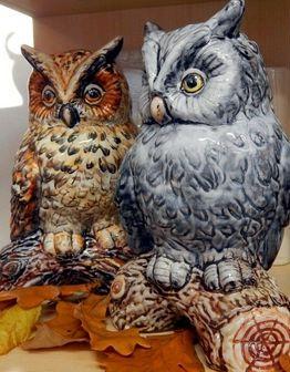 Керамическая скульптура Сова