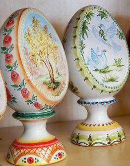 Керамические пасхальные яйца