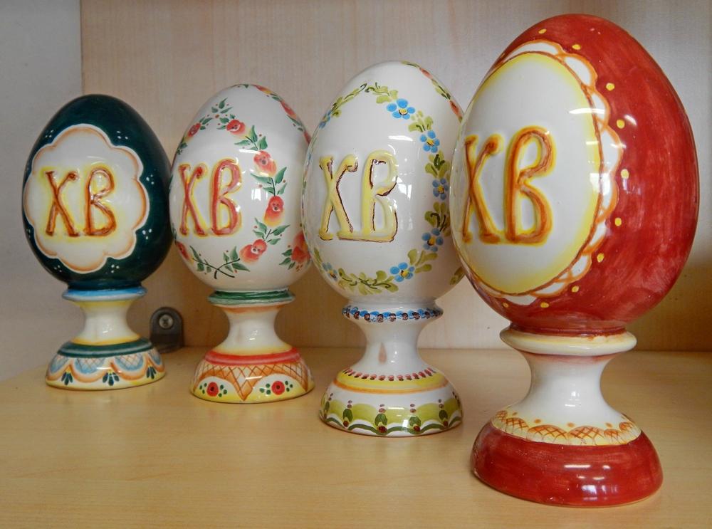 Pashalnye yajca ceramica