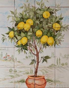 Керамическое панно Лимонное дерево
