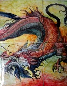 Керамическое панно Дракон