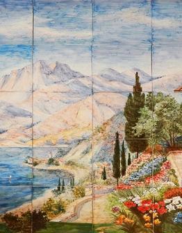 Керамическое панно Средиземноморье