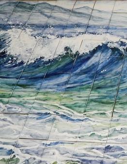 Керамическое панно Море
