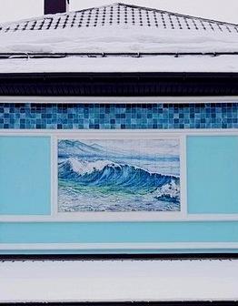 Морской керамический фасад
