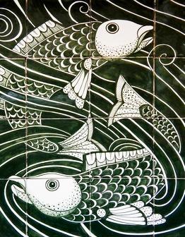 Керамическое панно Рыбы
